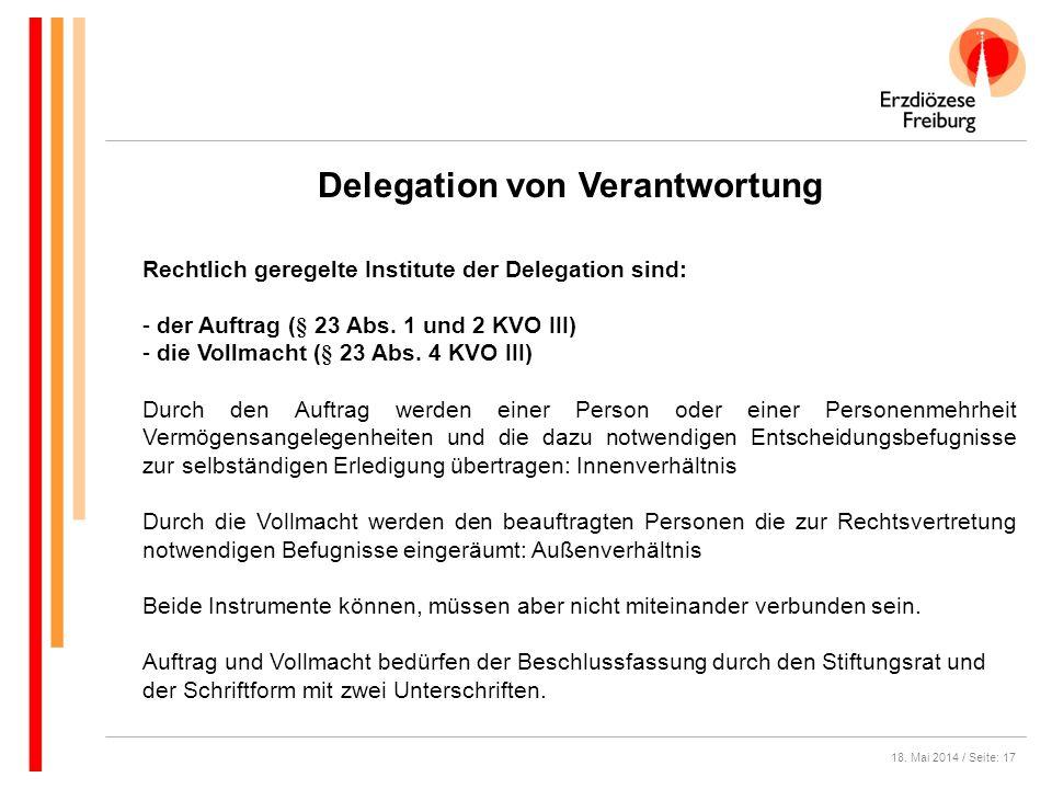 Delegation von Verantwortung