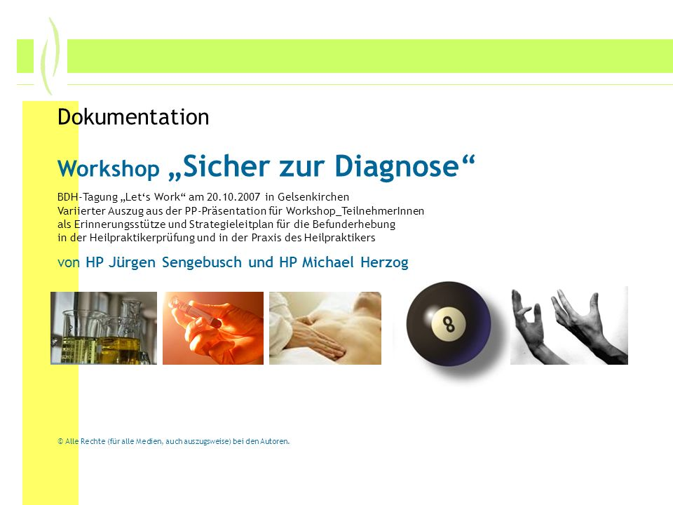 "Workshop ""Sicher zur Diagnose"