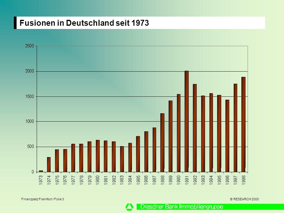 Fusionen in Deutschland seit 1973