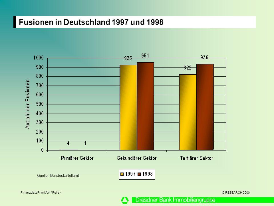 Fusionen in Deutschland 1997 und 1998