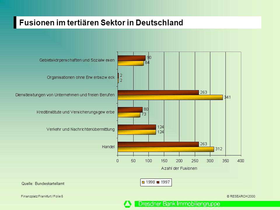 Fusionen im tertiären Sektor in Deutschland