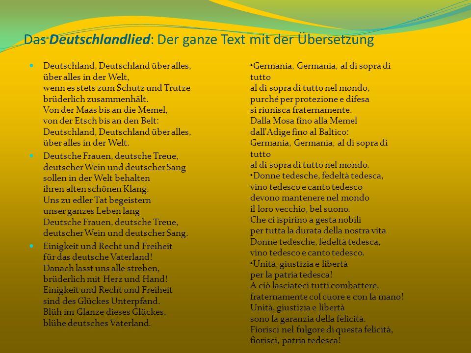 Das Deutschlandlied: Der ganze Text mit der Übersetzung