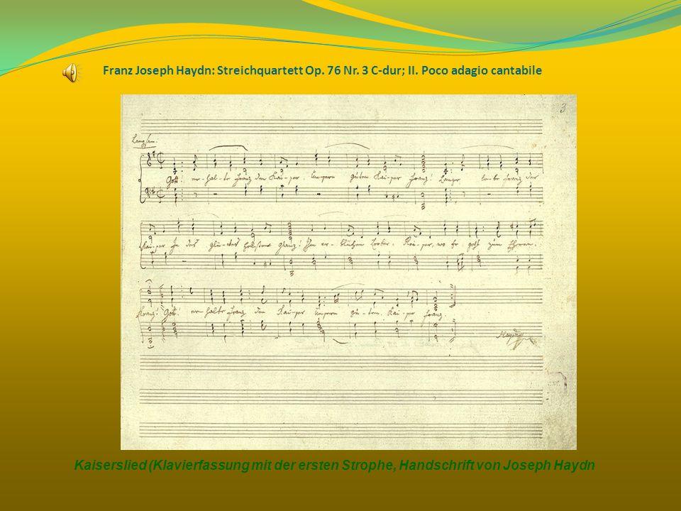 Franz Joseph Haydn: Streichquartett Op. 76 Nr. 3 C-dur; II