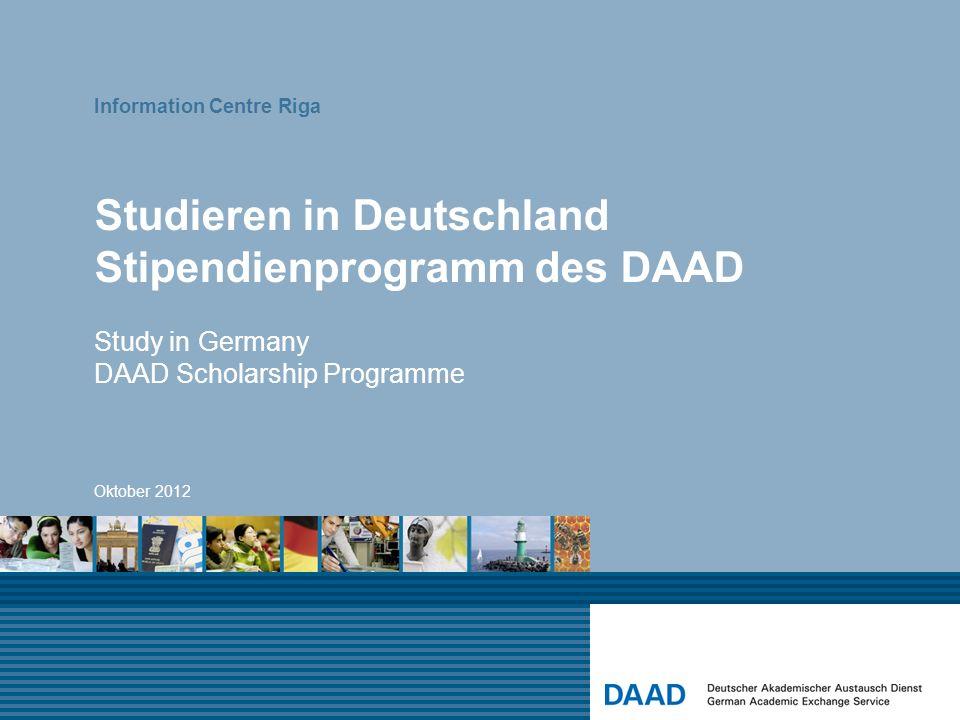 Studieren in Deutschland Stipendienprogramm des DAAD
