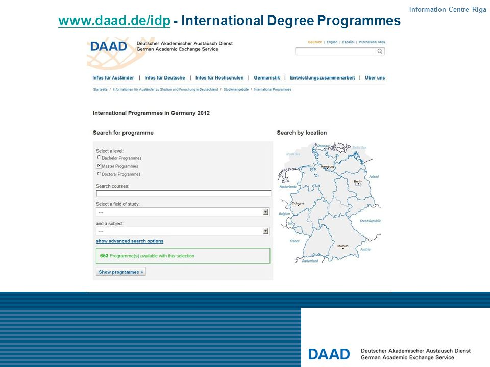www.daad.de/idp - International Degree Programmes