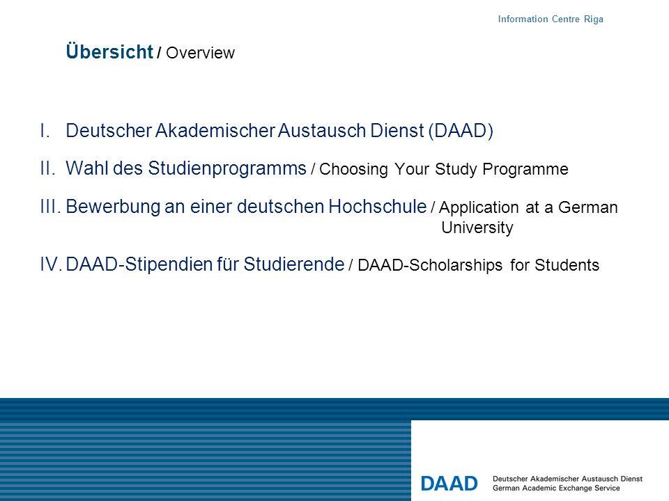 I. Deutscher Akademischer Austausch Dienst (DAAD)