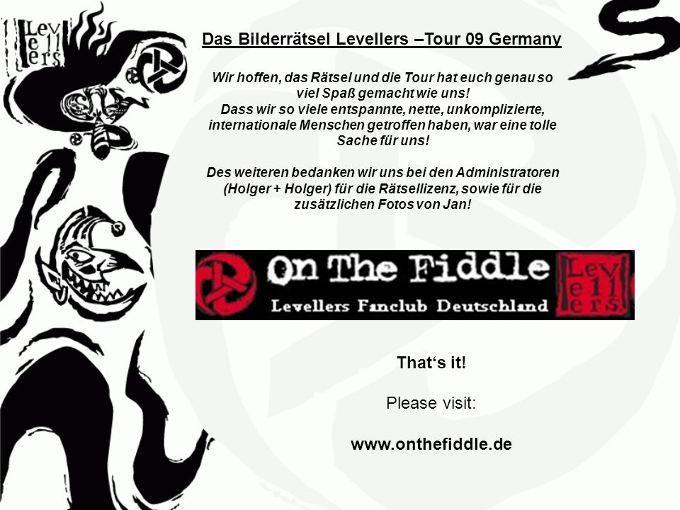 That's it! www.onthefiddle.de