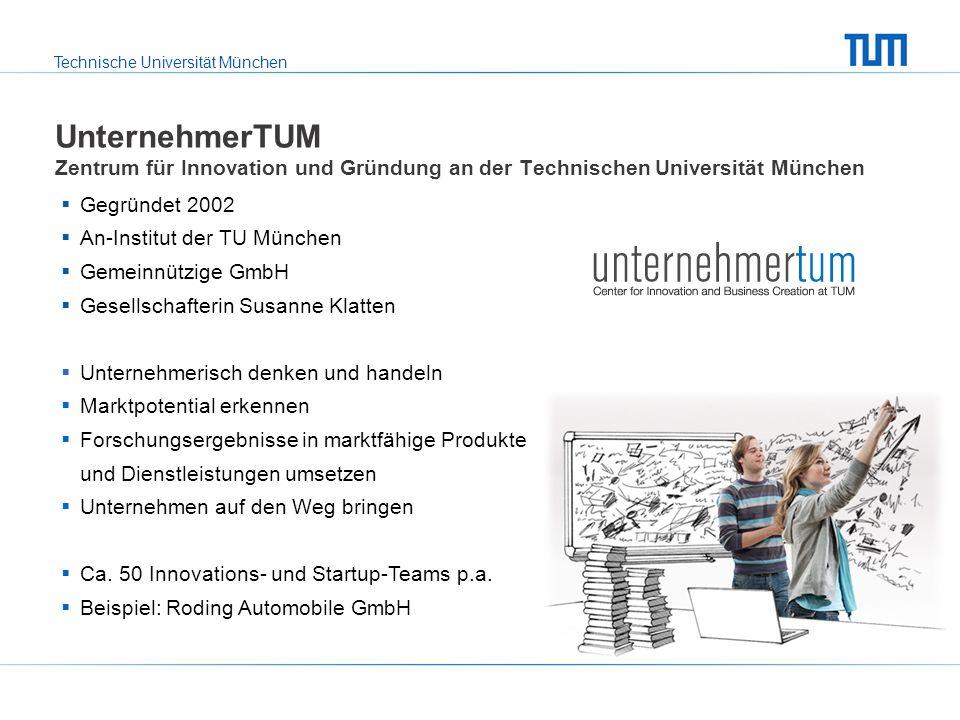 UnternehmerTUM Zentrum für Innovation und Gründung an der Technischen Universität München