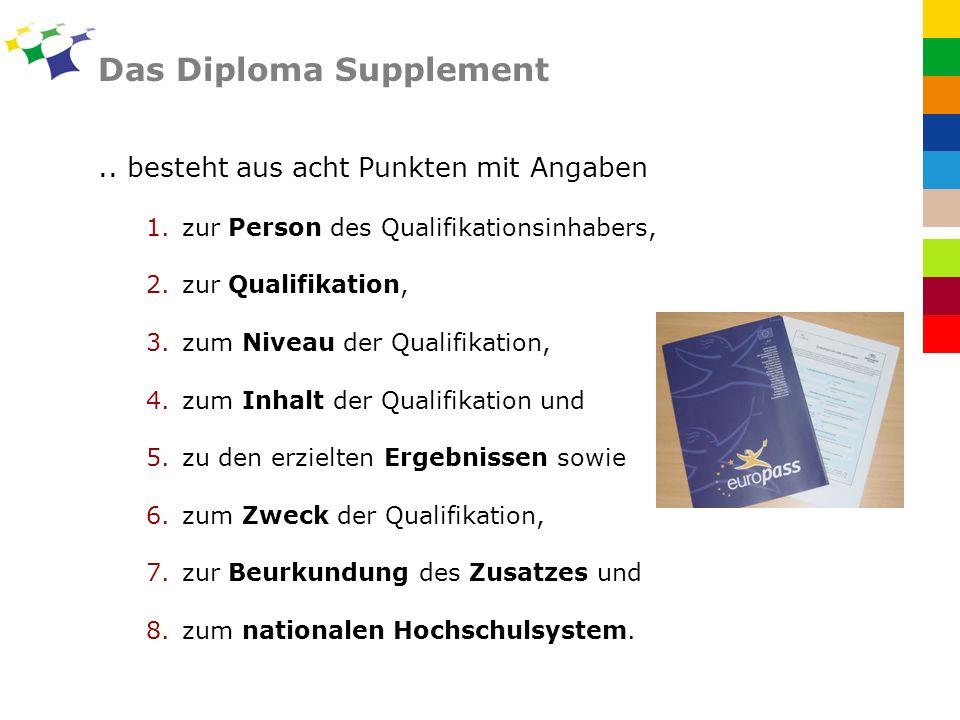 Das Diploma Supplement