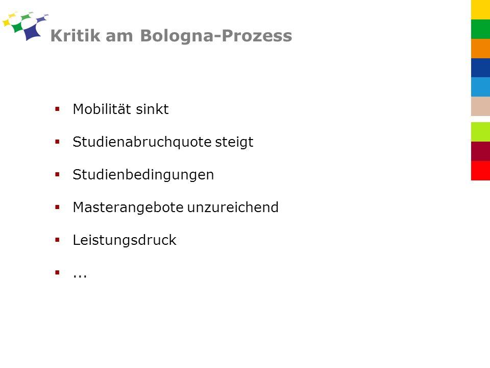 Kritik am Bologna-Prozess
