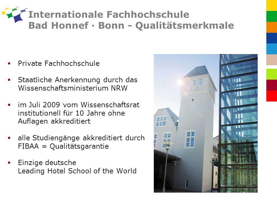 Internationale Fachhochschule Bad Honnef · Bonn - Qualitätsmerkmale