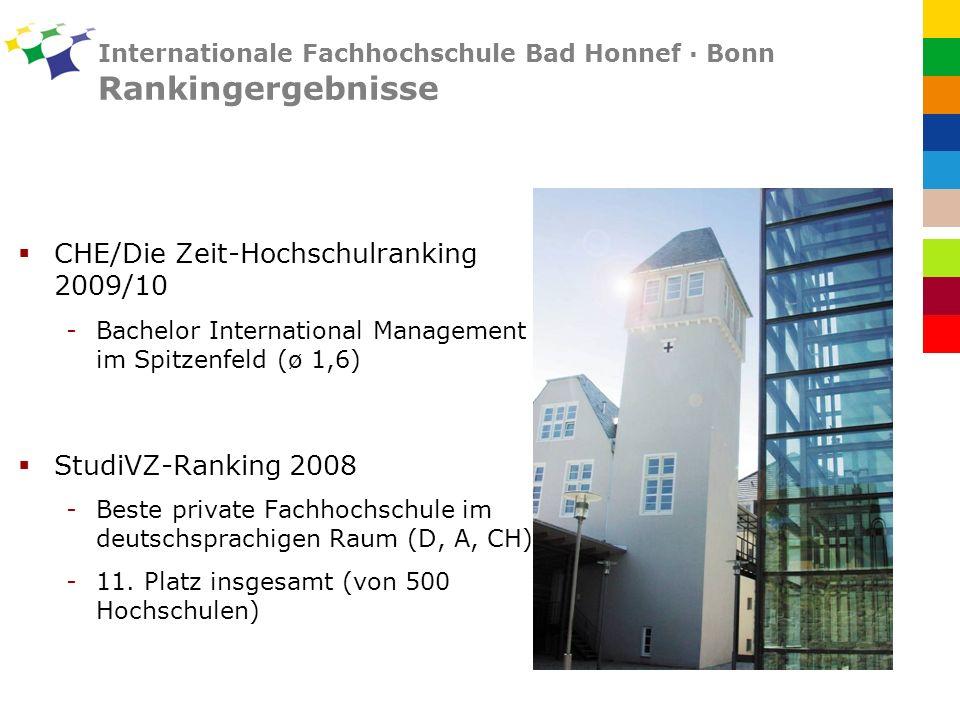 Internationale Fachhochschule Bad Honnef · Bonn Rankingergebnisse