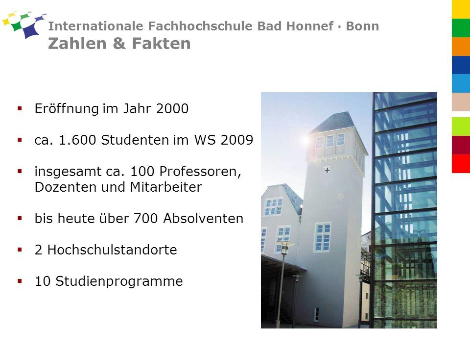 Internationale Fachhochschule Bad Honnef · Bonn Zahlen & Fakten