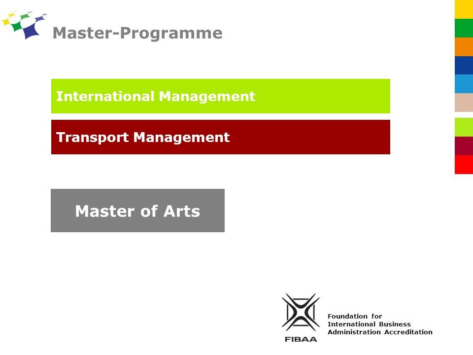 Master-Programme Master of Arts International Management