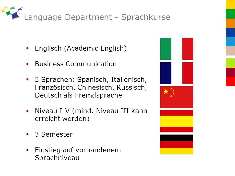 Language Department - Sprachkurse