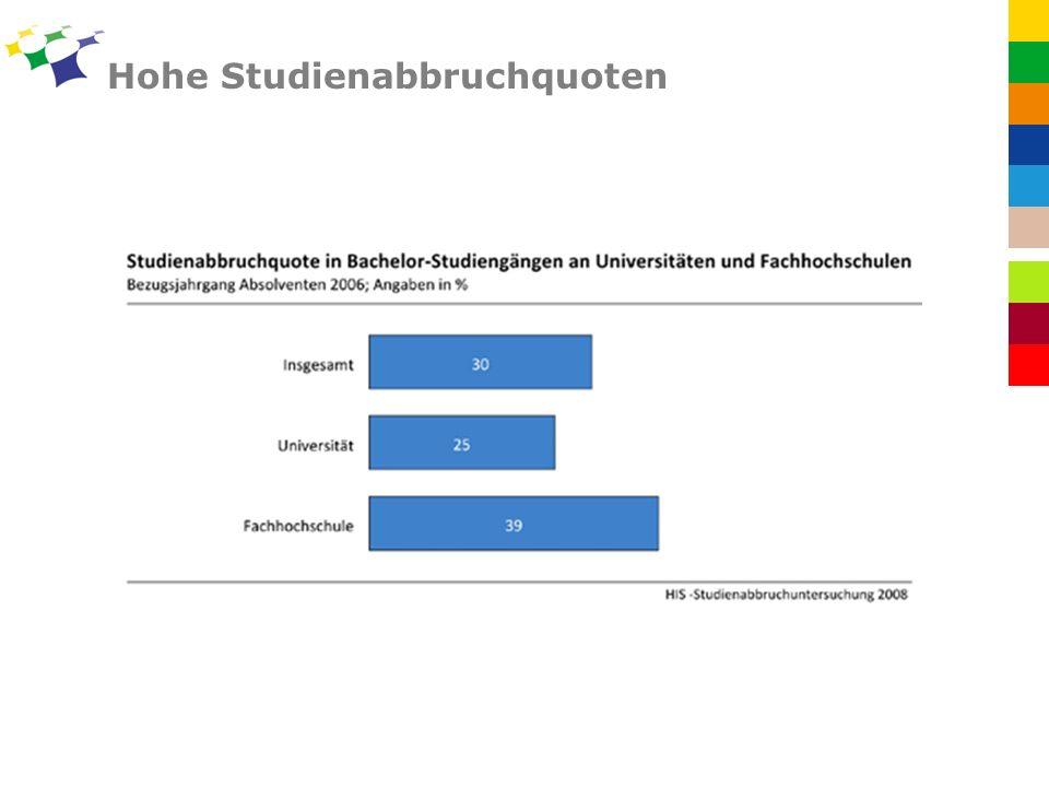 Hohe Studienabbruchquoten