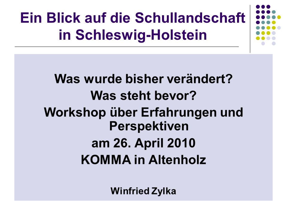 Ein Blick auf die Schullandschaft in Schleswig-Holstein