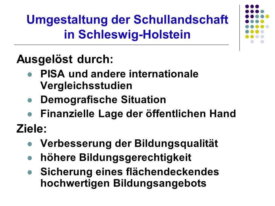 Umgestaltung der Schullandschaft in Schleswig-Holstein
