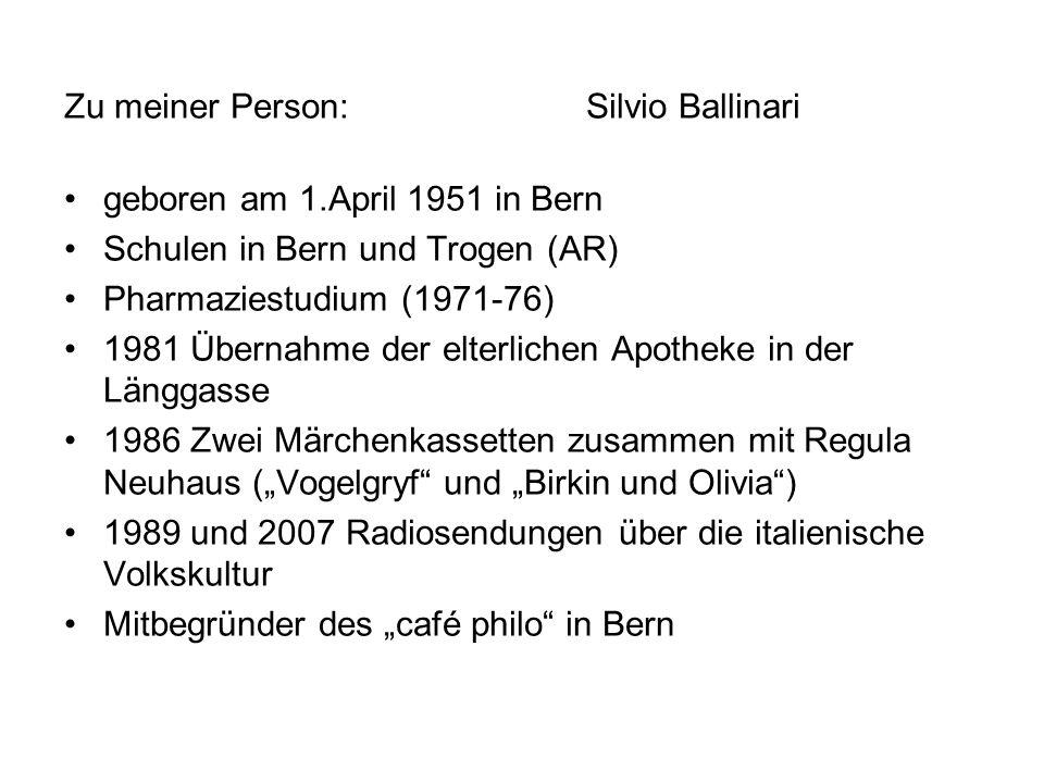 Zu meiner Person: Silvio Ballinari