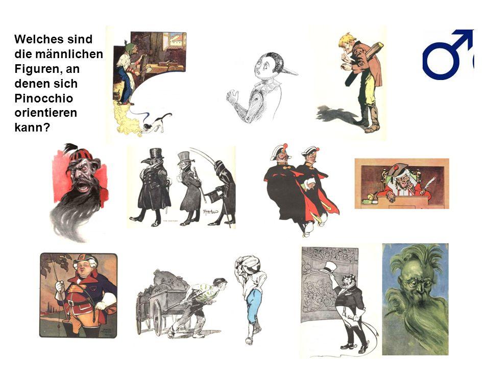 Welches sind die männlichen Figuren, an denen sich Pinocchio orientieren kann
