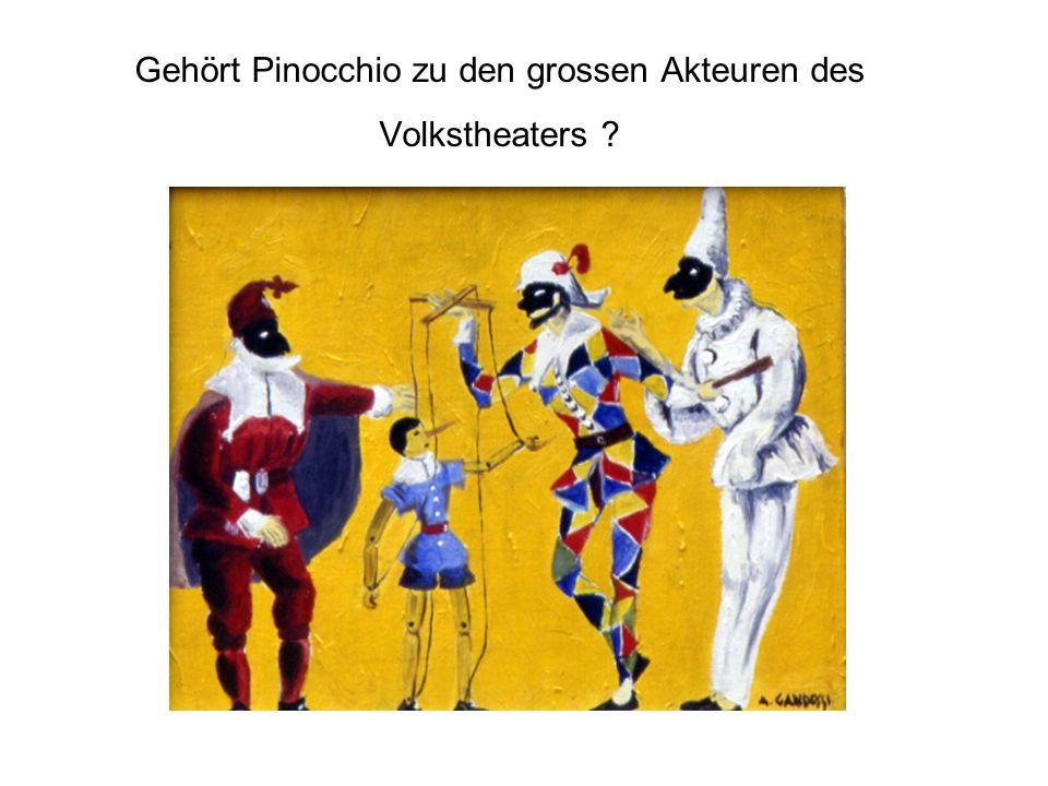 Gehört Pinocchio zu den grossen Akteuren des Volkstheaters