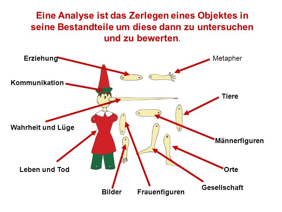 Eine Analyse ist das Zerlegen eines Objektes in seine Bestandteile um diese dann zu untersuchen und zu bewerten.