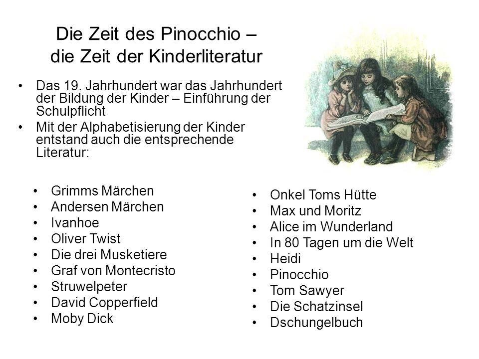 Die Zeit des Pinocchio – die Zeit der Kinderliteratur