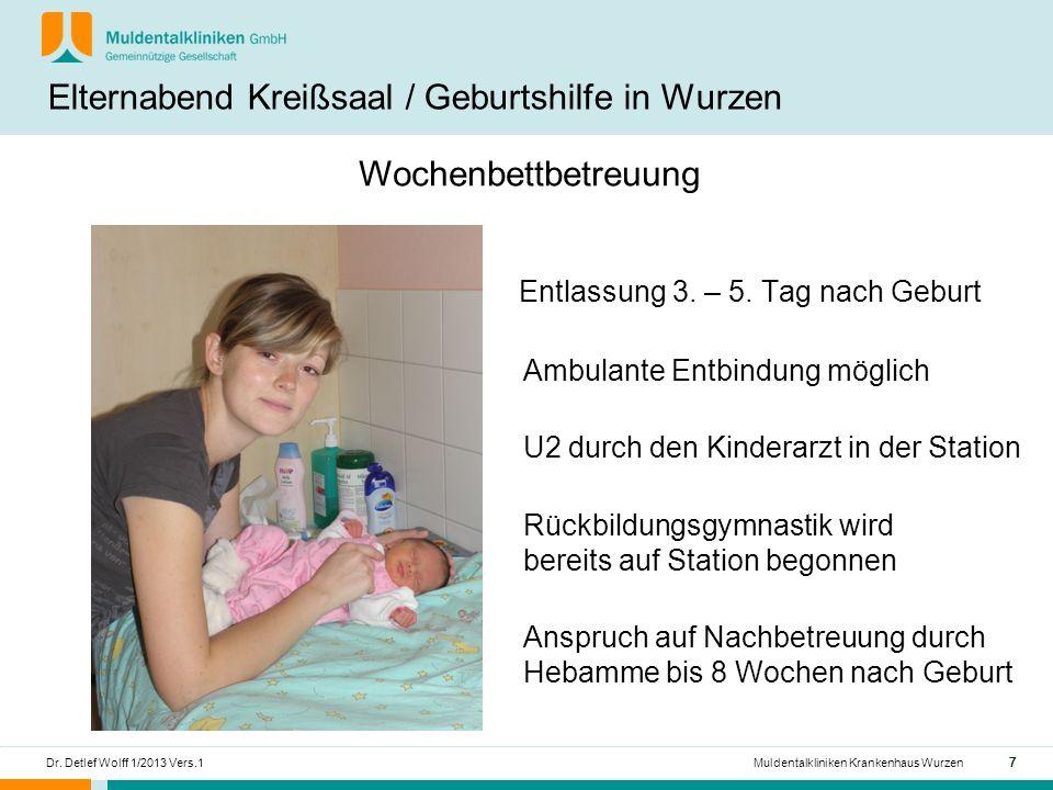 Elternabend Kreißsaal / Geburtshilfe in Wurzen