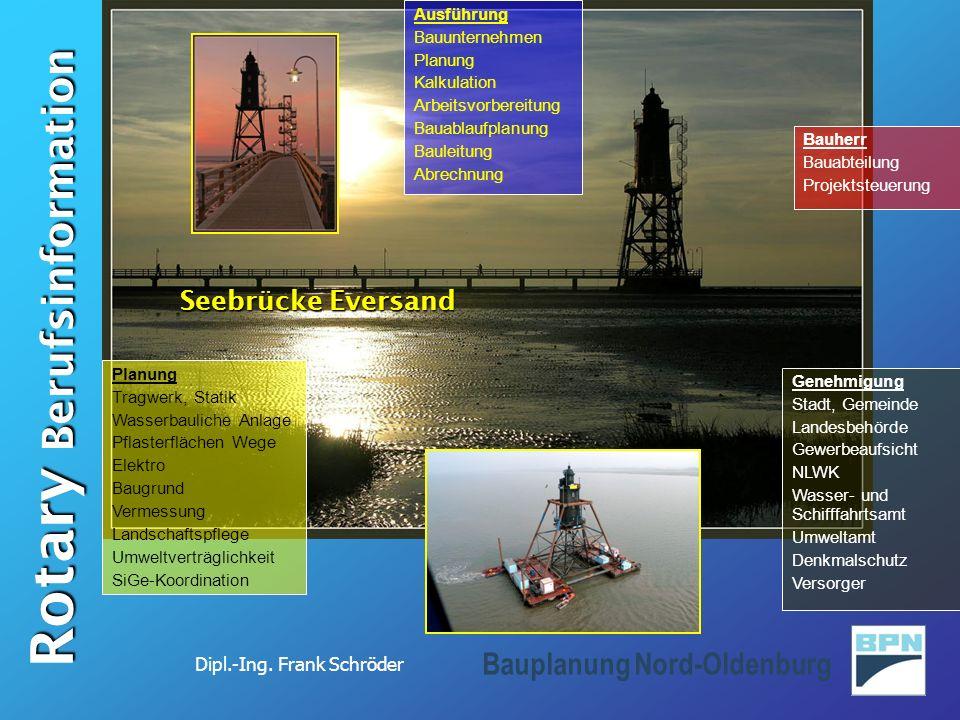 Seebrücke Eversand Ausführung Bauunternehmen Planung Kalkulation