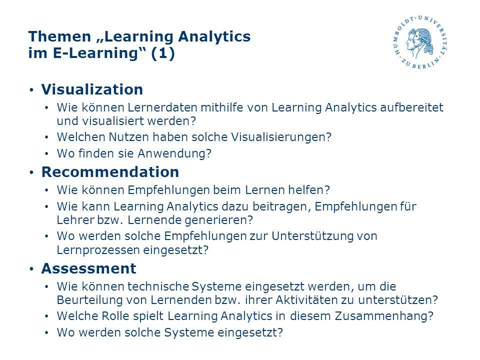"Themen ""Learning Analytics im E-Learning (1)"