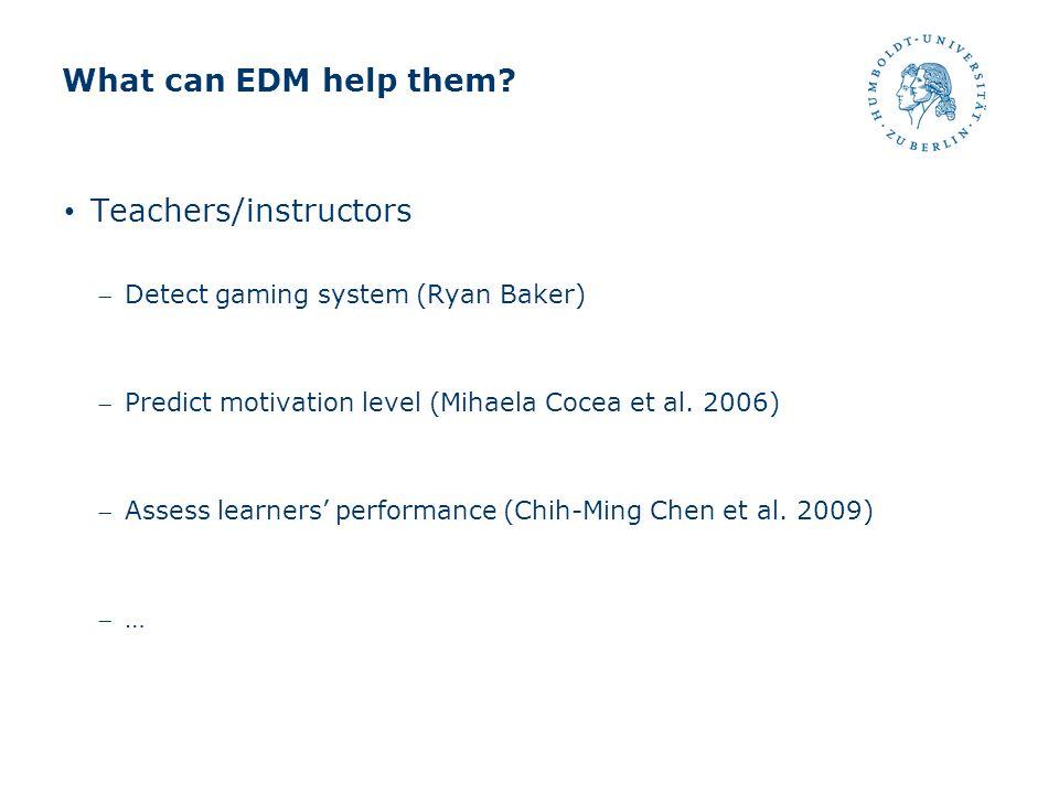 Teachers/instructors