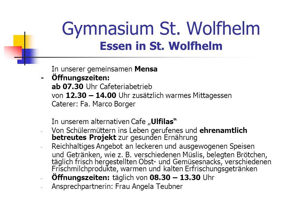 Gymnasium St. Wolfhelm Essen in St. Wolfhelm