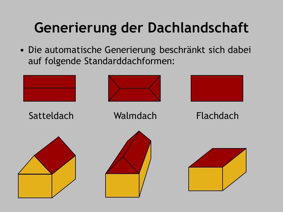 Generierung der Dachlandschaft