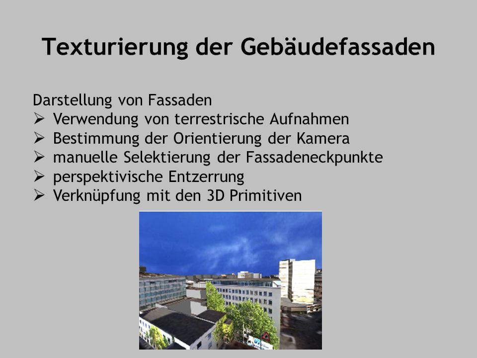 Texturierung der Gebäudefassaden