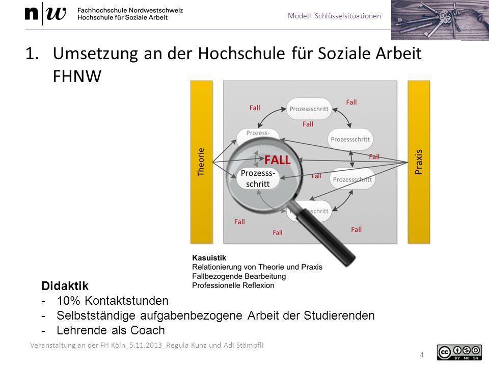 Umsetzung an der Hochschule für Soziale Arbeit FHNW