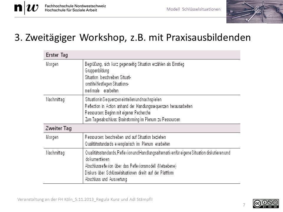 3. Zweitägiger Workshop, z.B. mit Praxisausbildenden