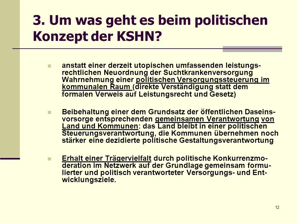 3. Um was geht es beim politischen Konzept der KSHN
