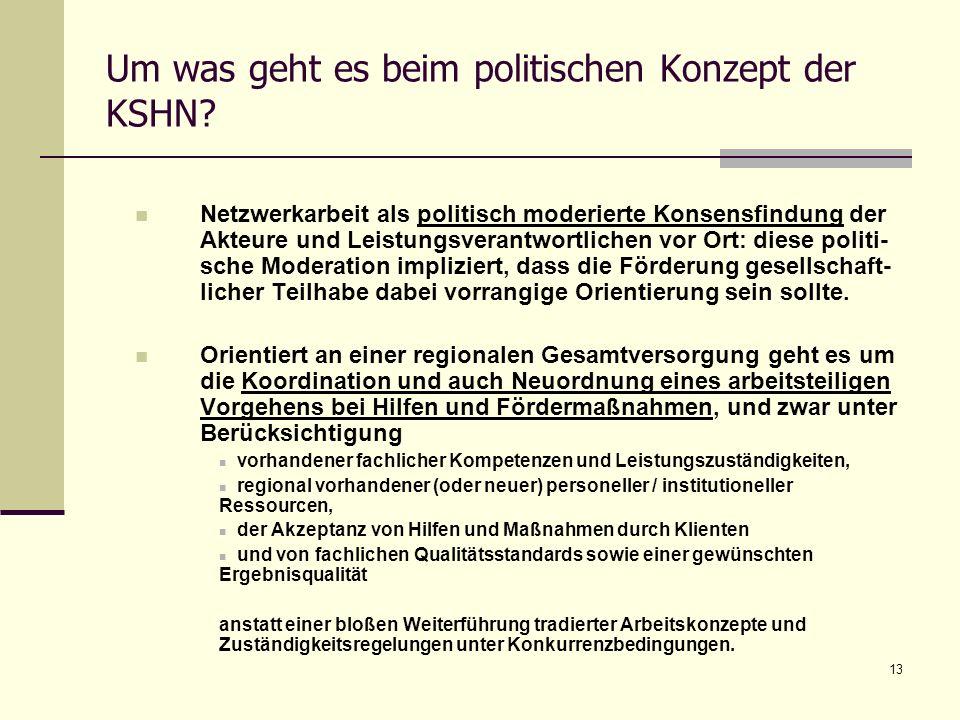 Um was geht es beim politischen Konzept der KSHN
