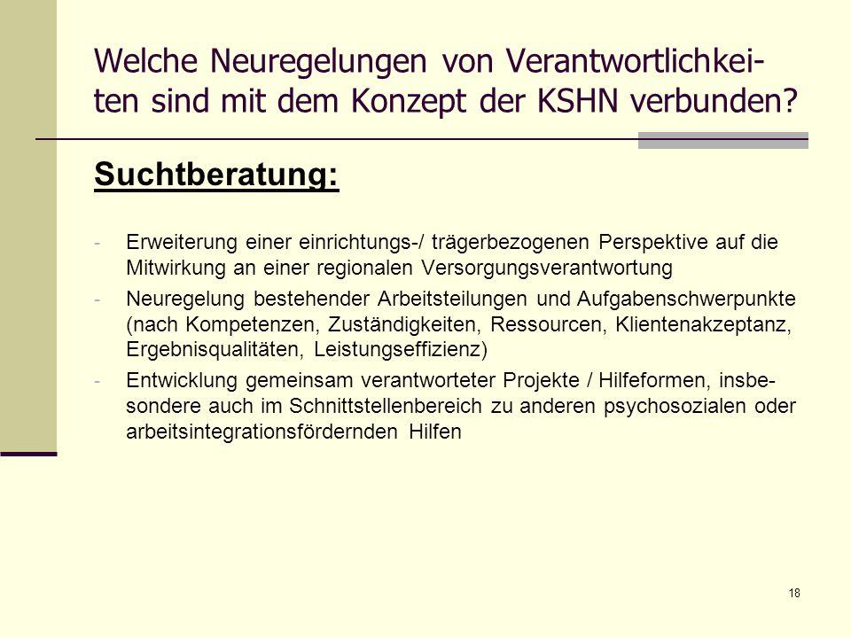 Welche Neuregelungen von Verantwortlichkei-ten sind mit dem Konzept der KSHN verbunden