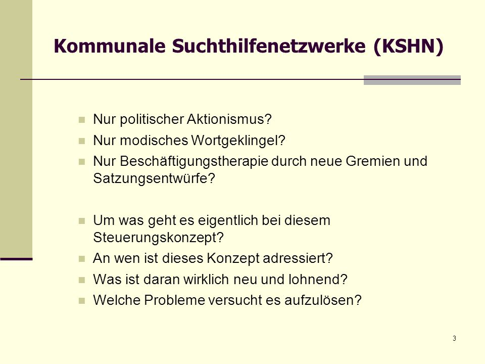 Kommunale Suchthilfenetzwerke (KSHN)