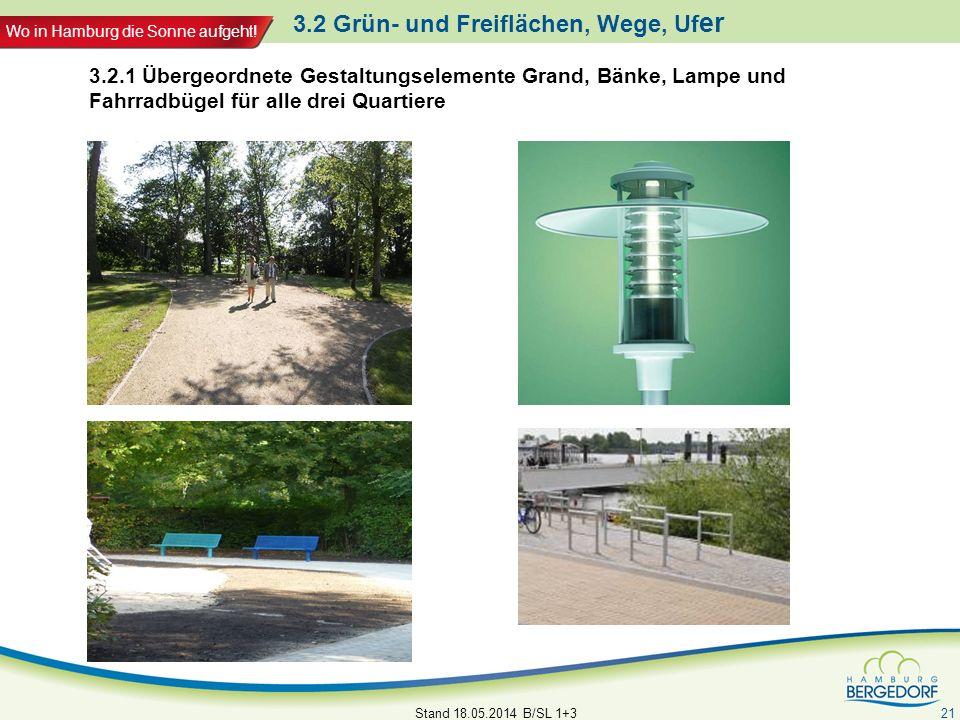 3.2 Grün- und Freiflächen, Wege, Ufer