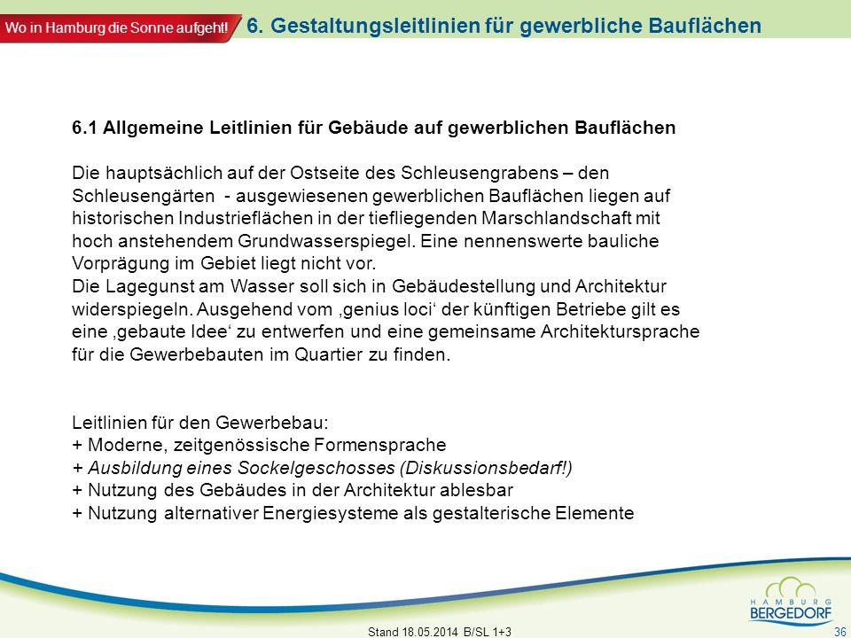 6. Gestaltungsleitlinien für gewerbliche Bauflächen