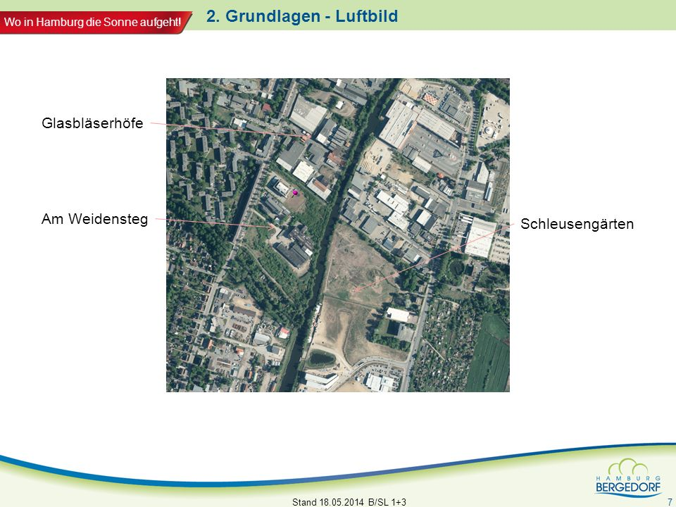 2. Grundlagen - Luftbild Glasbläserhöfe Am Weidensteg Schleusengärten