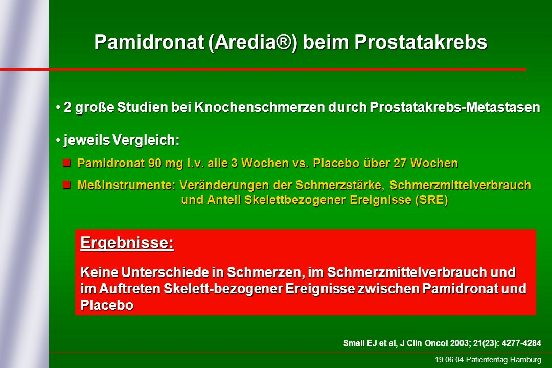 Pamidronat (Aredia®) beim Prostatakrebs