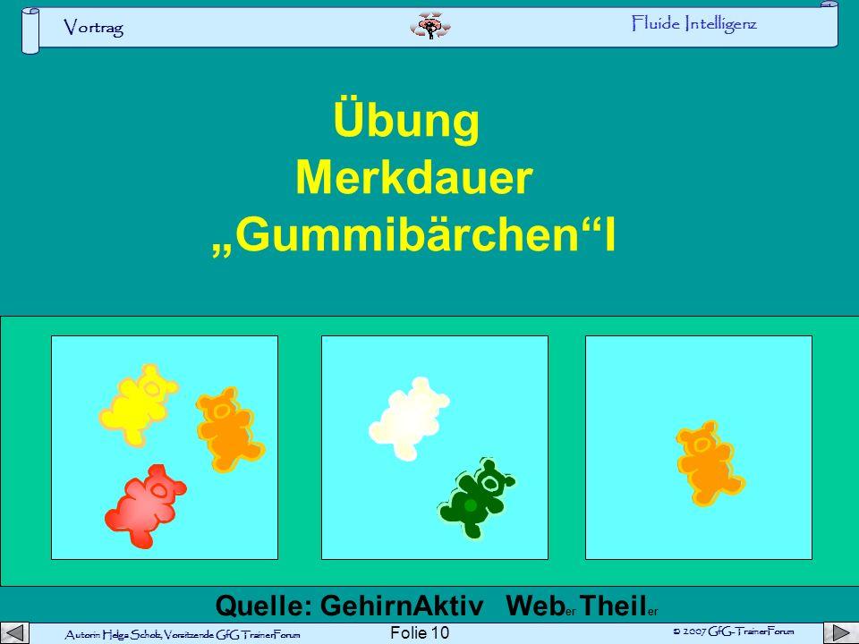 "Übung Merkdauer ""Gummibärchen I"