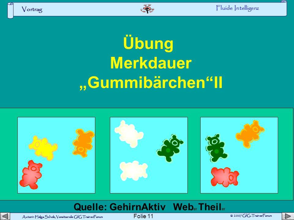 "Übung Merkdauer ""Gummibärchen II"