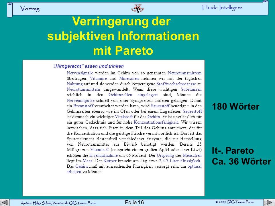 subjektiven Informationen