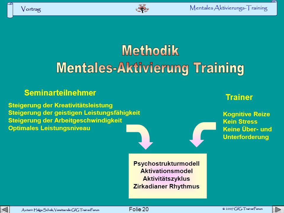 Mentales-Aktivierung Training Psychostrukturmodell