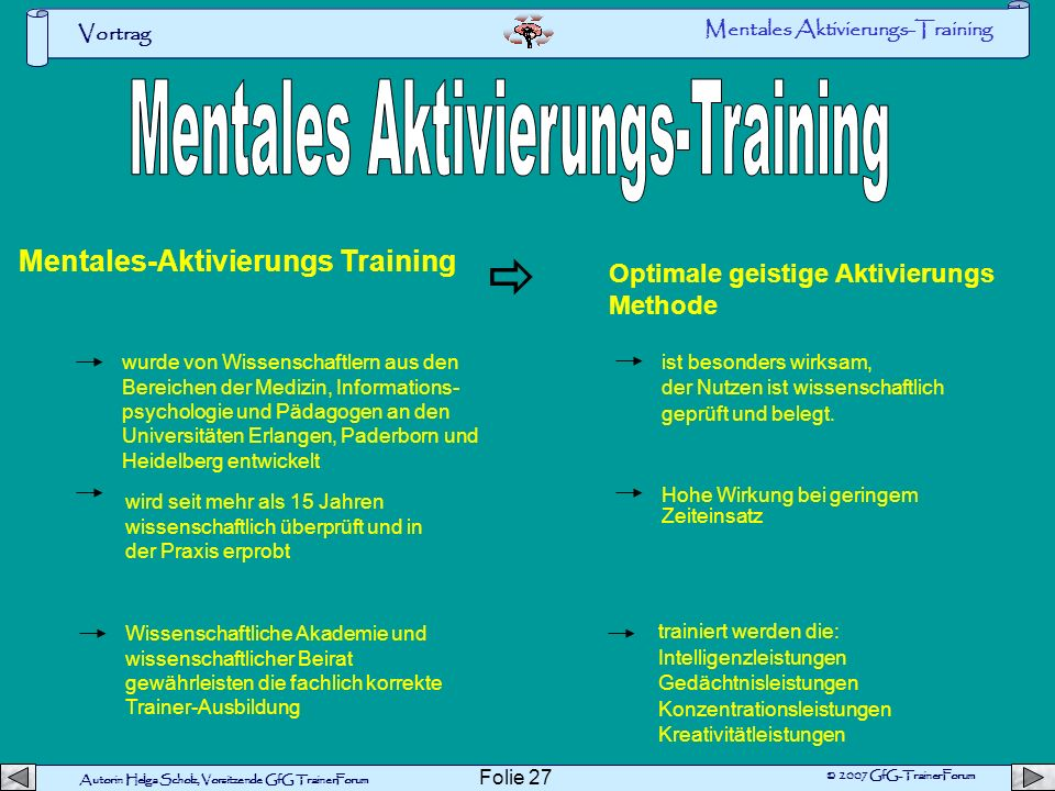Mentales Aktivierungs-Training