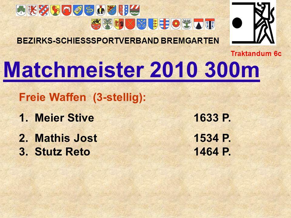 Matchmeister 2010 300m Freie Waffen (3-stellig):